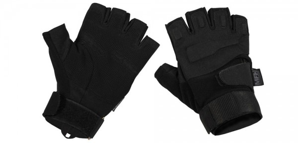 """Tactical Halbfinger Handschuhe """"Protect"""" - schwarz"""