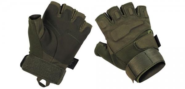 """Tactical Halbfinger Handschuhe """"Protect"""" - oliv"""