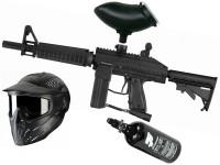 Tippmann Stryker XR1 .68 Cal schwarz, 0,8l HP, JT Premise Headshield single, Munbox