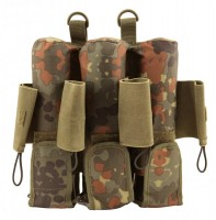 7 Pot (3+4) Potoyz Rebel Pack Molle Flecktarn unisize