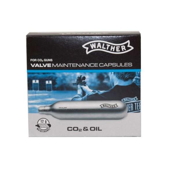 CO2 Wartungskapseln für CO 2 Waffen von Walther 12 g