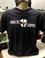 AREA13 T-Shirt schwarz Skull & Letter