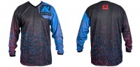 New Legion ultimate Pro Paintball Jersey - dash red/blue