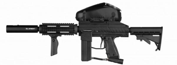Tippmann Stryker AR1 Elite .68 Cal schwarz, 0,8l HP, JT Premise Headshield single