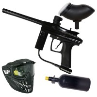 Azodin Centurion HP Paintball Set - black