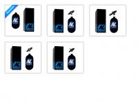 1,1 Liter 300 Bar HP System New Legion inkl. Ninja Regulator