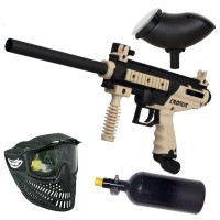 Tippmann Cronus Basic tan/black HP Paintball Set
