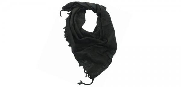 Shemagh / PLO Tuch mit Fransen - schwarz