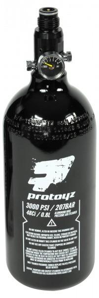 HP System 200 Bar Protoyz mit Protoyz Regulator und 0,8l Alu Flasche, PI zertifiziert