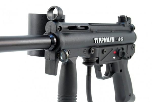 Tippmann A-5 Basic .68 Cal, 0,8l HP, JT Premise Headshield single