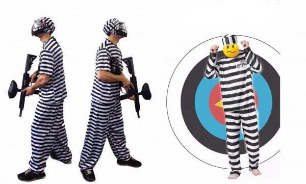 Paintball Häftlingskostüm